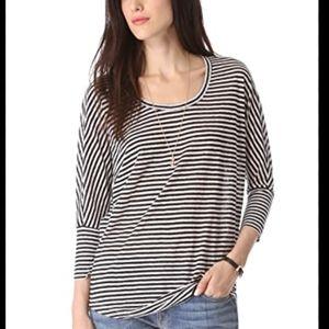 {Joie} striped linen dolman sleeve top